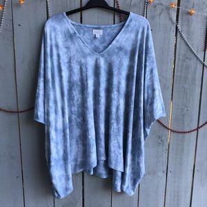 Mud Pie Blue Tyedye One Size Tunic Top